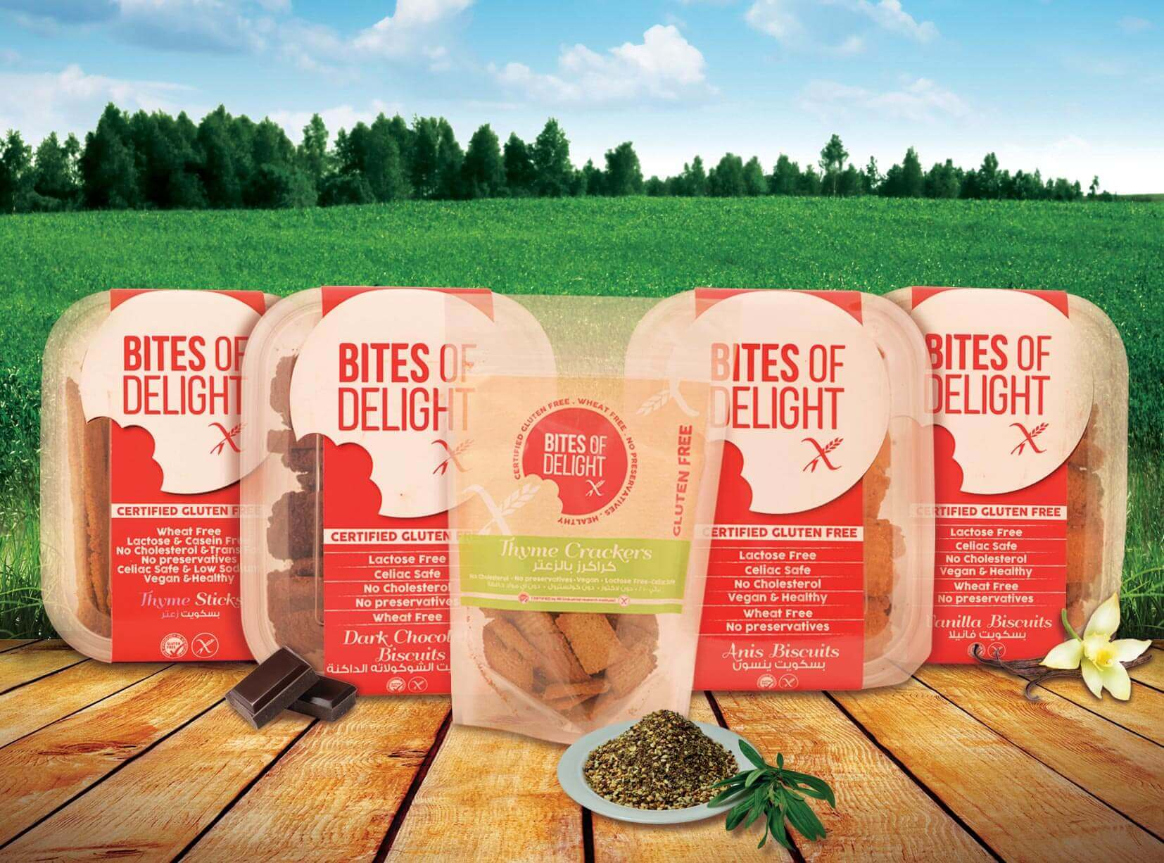 Bites of delight product line